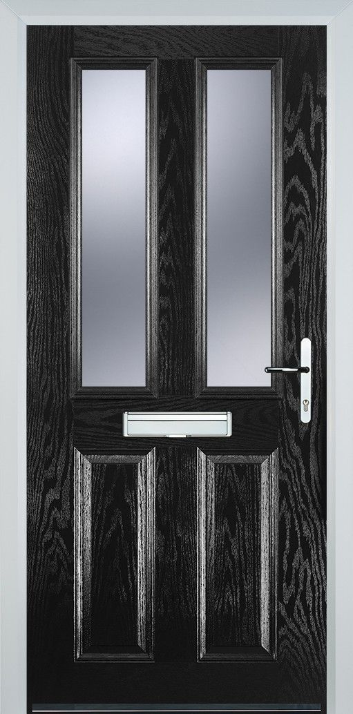 2 Panel 2 Glazed Composite Door - Black