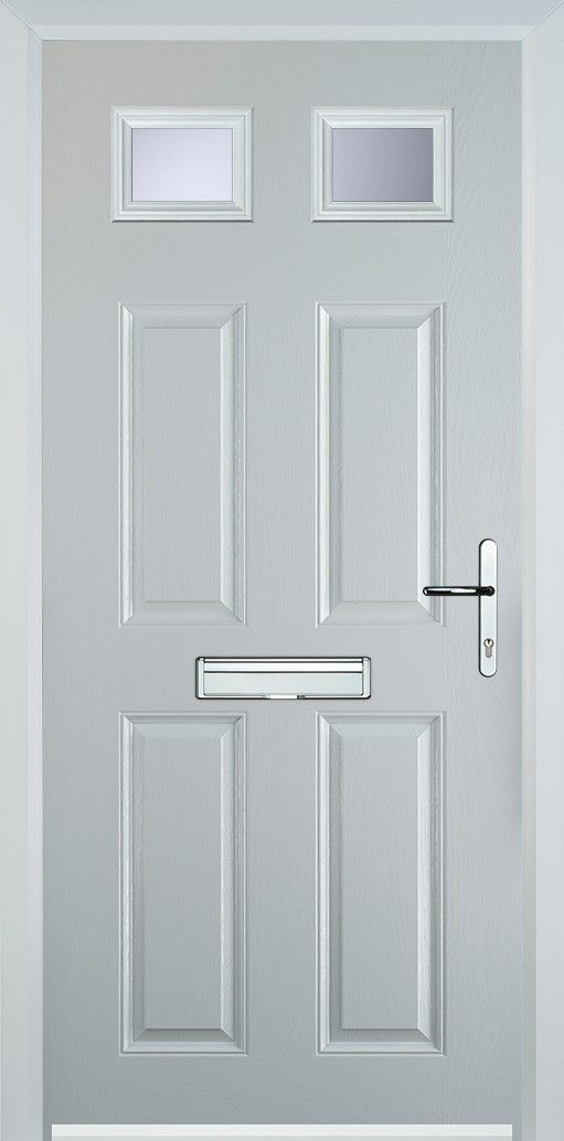 4 Panel 2 Square Composite Door - White