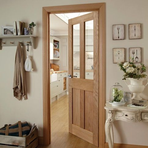 Burford Oak 4 Panel Glazed Door