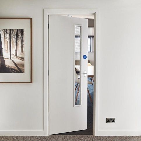 Commercial 20G Glazed FD30 Fire Door