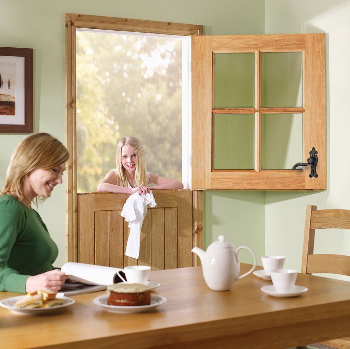 Cottage Stable 4 Light Oak Double Glazed Door