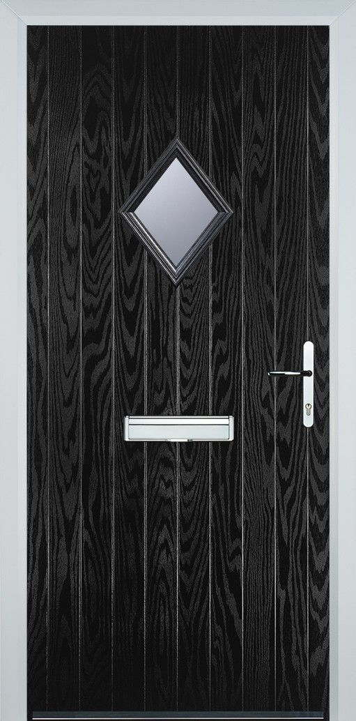 online store 10776 cd1fc Diamond Glazed Composite Door - Black