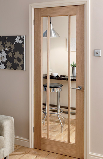 Langdale / Worcester Oak 3 Light Glazed Interior Door