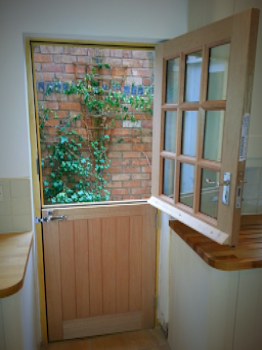 Stable Hardwood External Door 9 Pane Double Glazed M&T
